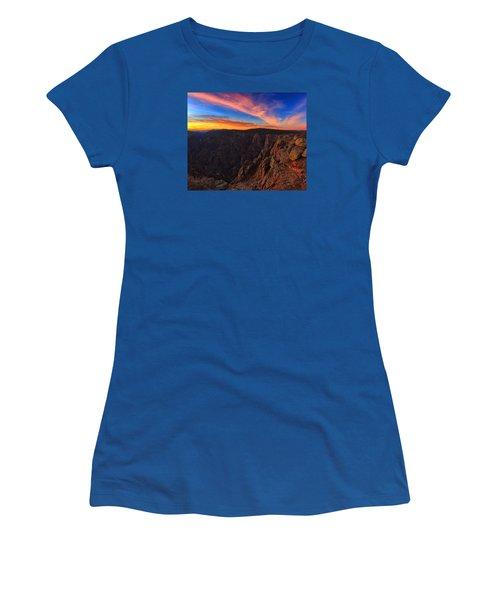 On The Edge Women's T-Shirt (Junior Cut) by Rick Furmanek