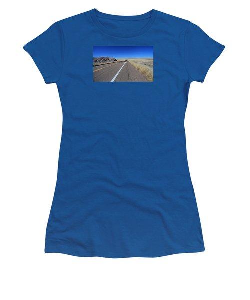Women's T-Shirt (Junior Cut) featuring the photograph Open Road by Gary Kaylor