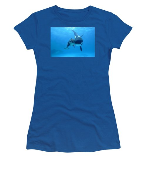 Orca Orcinus Orca Mother And Newborn Women's T-Shirt