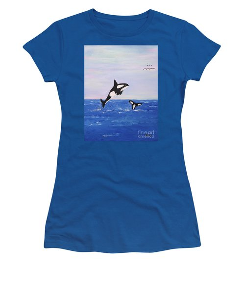 Orcas In The Morning Women's T-Shirt