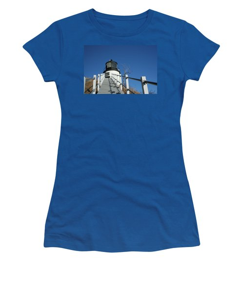 Owls Head Lighthouse Winter Women's T-Shirt