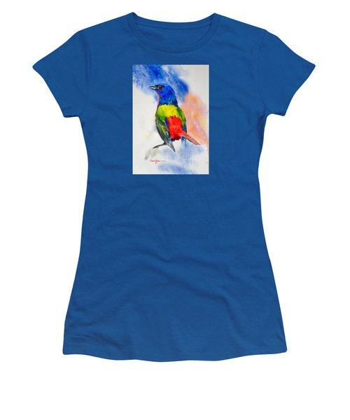 Da189 Painted Bunting Daniel Adams Women's T-Shirt