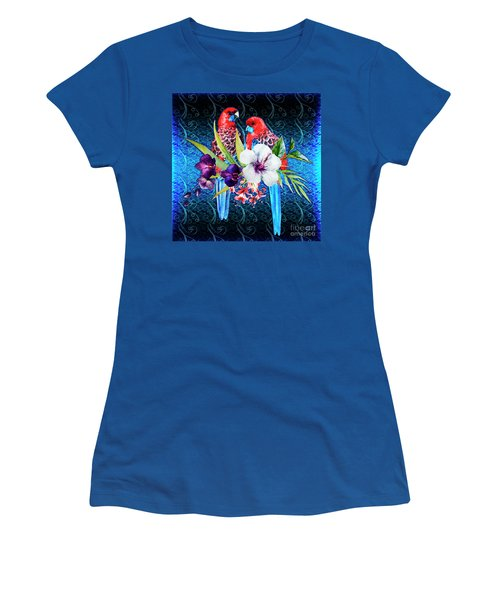 Paired Parrots Women's T-Shirt (Athletic Fit)