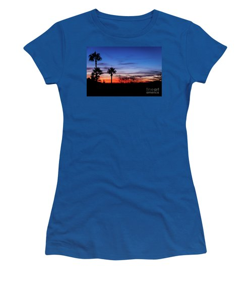 Palm Shadows II Women's T-Shirt (Athletic Fit)