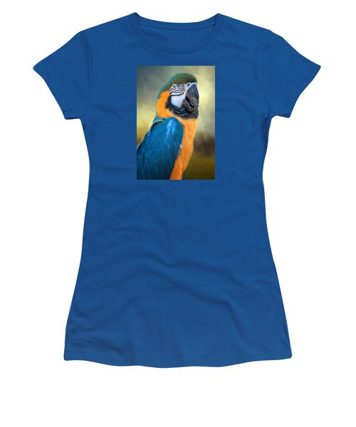 Parrot Women's T-Shirt (Junior Cut) by David and Carol Kelly