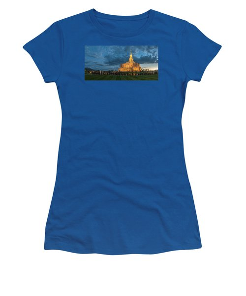 Payson Temple Panorama Women's T-Shirt