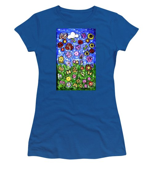Peaceful Glowing Garden Women's T-Shirt (Athletic Fit)