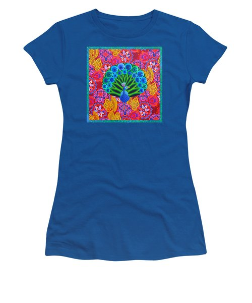 Peacock And Pattern Women's T-Shirt