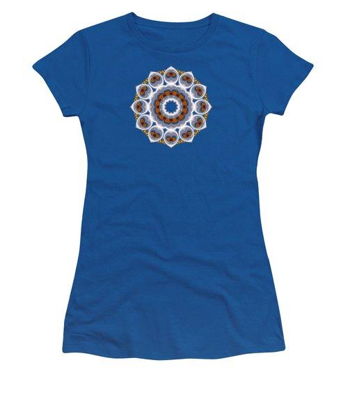Peacock Fractal Snow Flower Women's T-Shirt