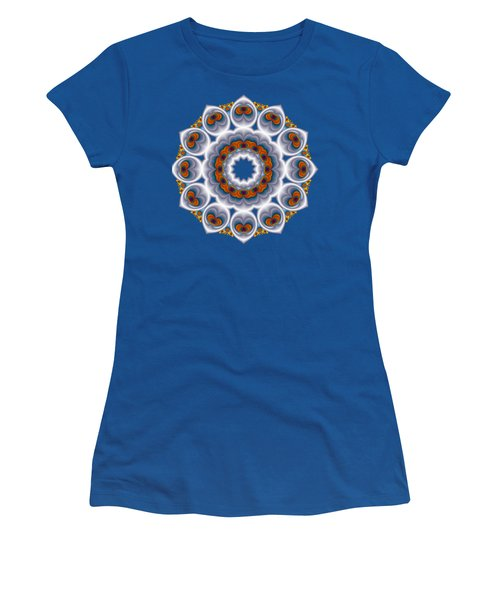 Peacock Fractal Snow Flower Women's T-Shirt