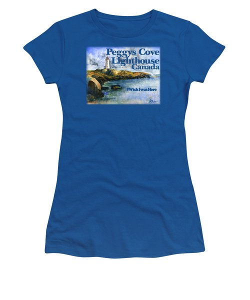 Peggys Cove Lighthouse Shirt Women's T-Shirt (Athletic Fit)