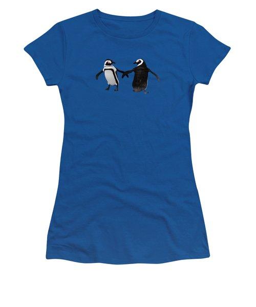 Penguin Dance Women's T-Shirt (Athletic Fit)