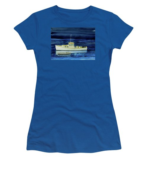 Perkins Cove Lobster Boat And Skiff Women's T-Shirt (Athletic Fit)