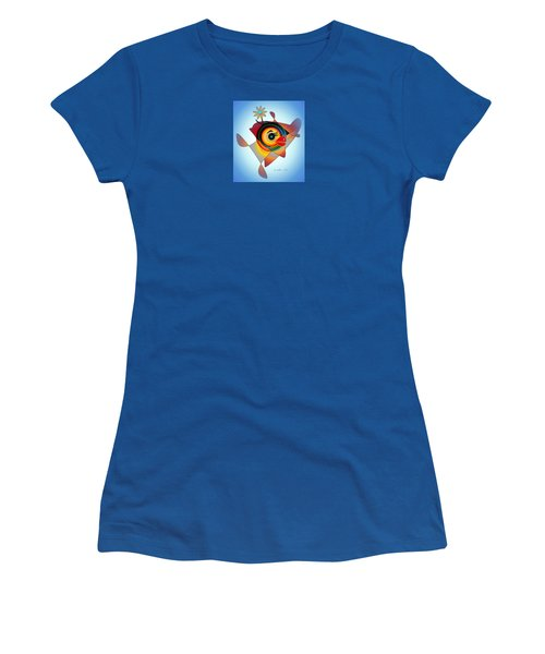 Petunia Parrot 2 Women's T-Shirt (Athletic Fit)