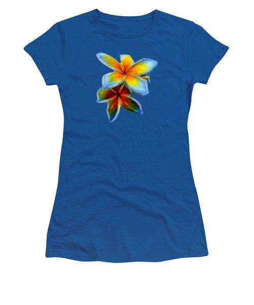 Plumerias Women's T-Shirt (Junior Cut) by Pamela Walton