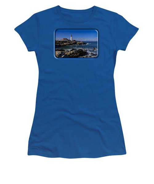 Portland Head Light No.32 Women's T-Shirt (Junior Cut)