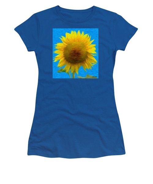 Portrait Of A Sunflower Women's T-Shirt