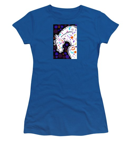 Women's T-Shirt (Junior Cut) featuring the digital art poster HORSE by Mary Armstrong