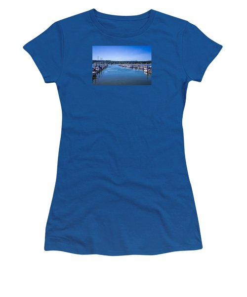 Poulsbo Marina Women's T-Shirt (Athletic Fit)