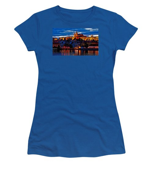 Prague Castle In The Evening Women's T-Shirt (Athletic Fit)