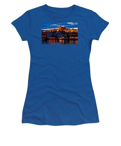 Prague Castle In The Evening Women's T-Shirt (Athletic Fit)