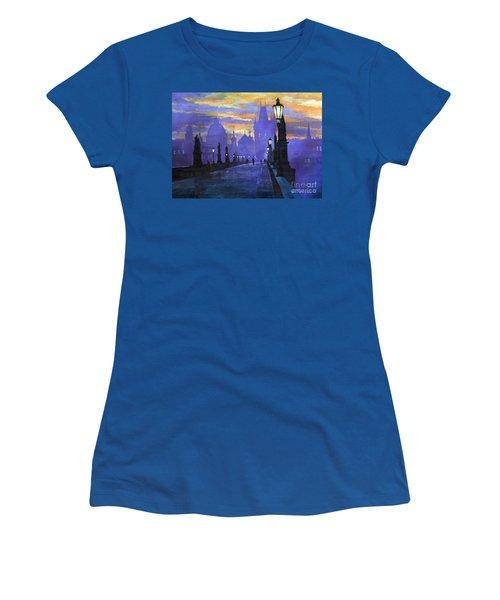 Prague Charles Bridge Sunrise Women's T-Shirt