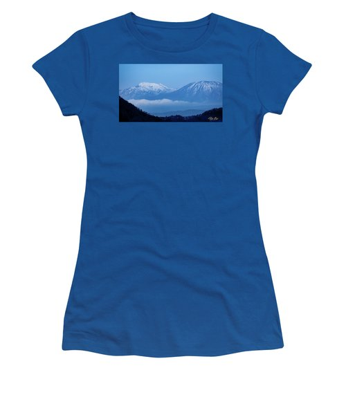 Women's T-Shirt (Athletic Fit) featuring the photograph Predawn Peaks by Rikk Flohr