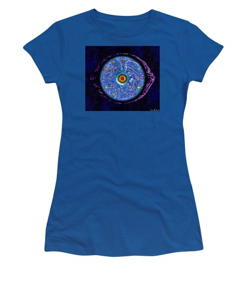 Women's T-Shirt (Athletic Fit) featuring the digital art Presbyopic by Iowan Stone-Flowers