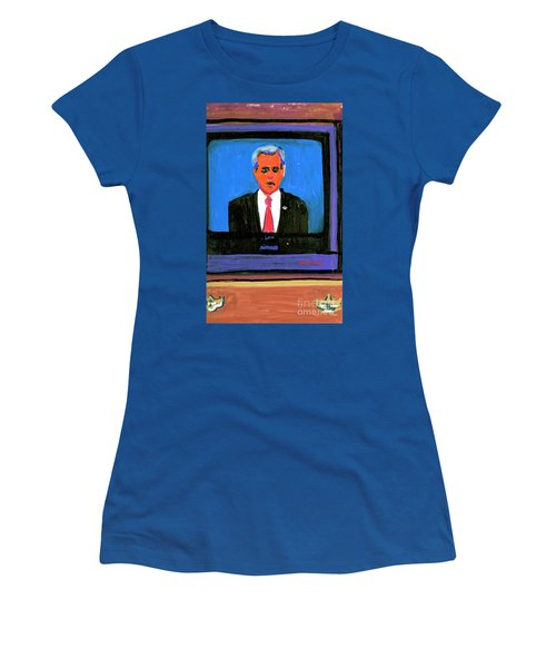 President George Bush Debate 2004 Women's T-Shirt (Junior Cut) by Candace Lovely