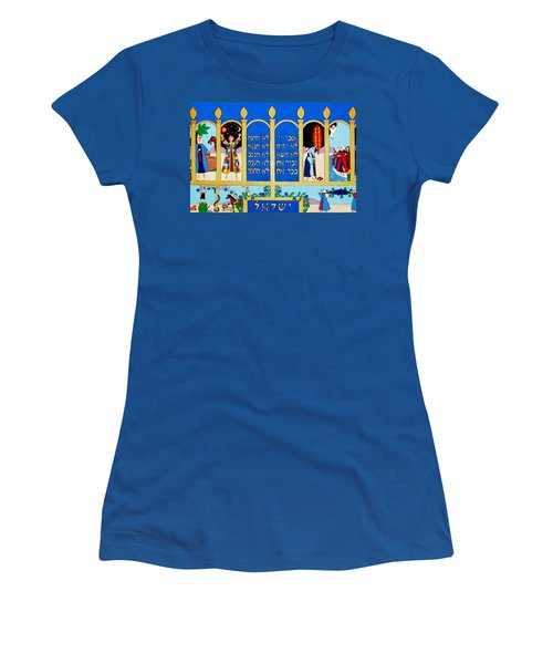Women's T-Shirt (Junior Cut) featuring the painting Promised Land by Stephanie Moore
