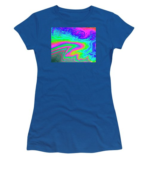 Women's T-Shirt (Athletic Fit) featuring the photograph Psychedelic Swirl by Jean Noren