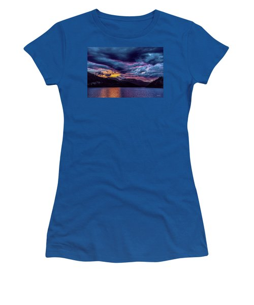 Purple Sunset At Summit Cove Women's T-Shirt (Athletic Fit)