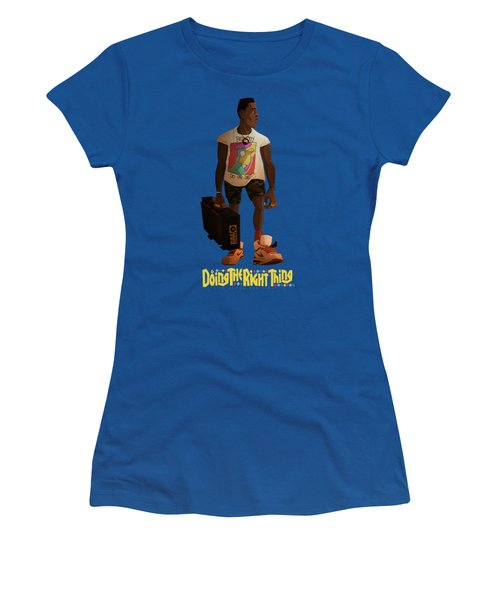 Women's T-Shirt (Junior Cut) featuring the drawing Radio Raheem by Nelson Dedos Garcia
