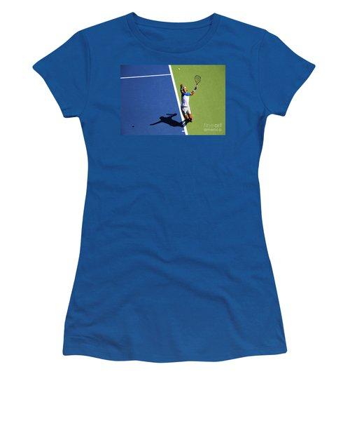 Rafeal Nadal Tennis Serve Women's T-Shirt (Athletic Fit)