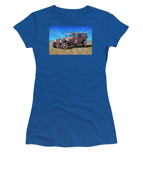 Women's T-Shirt (Junior Cut) featuring the photograph Rat Rod On Beach 3 by Mike McGlothlen