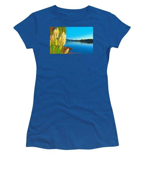 Ravenna Grass Smith Mountain Lake Women's T-Shirt (Junior Cut) by The American Shutterbug Society