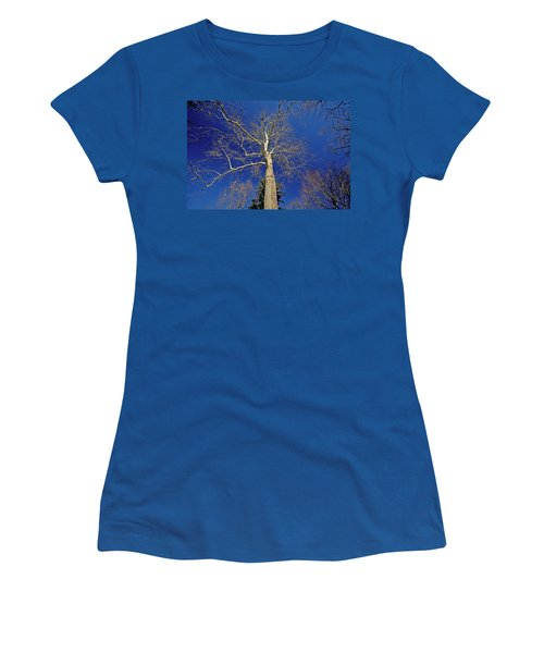 Women's T-Shirt (Junior Cut) featuring the photograph Reaching For The Sky by Suzanne Stout