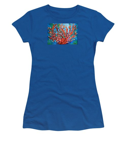 Red Coral Women's T-Shirt (Junior Cut) by Edgar Torres