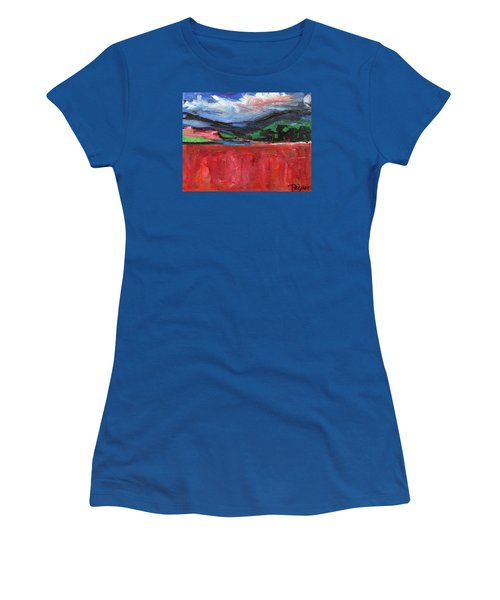Red Field Landscape Women's T-Shirt