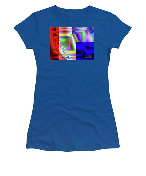 Red White And Blue 1 Women's T-Shirt (Athletic Fit)