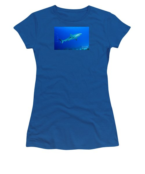 Women's T-Shirt (Junior Cut) featuring the photograph Out Of The Blue by Aaron Whittemore