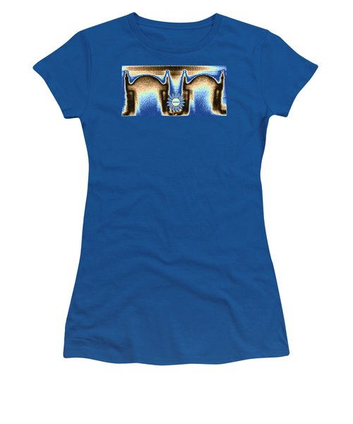 Women's T-Shirt (Junior Cut) featuring the mixed media Reserved by Will Borden