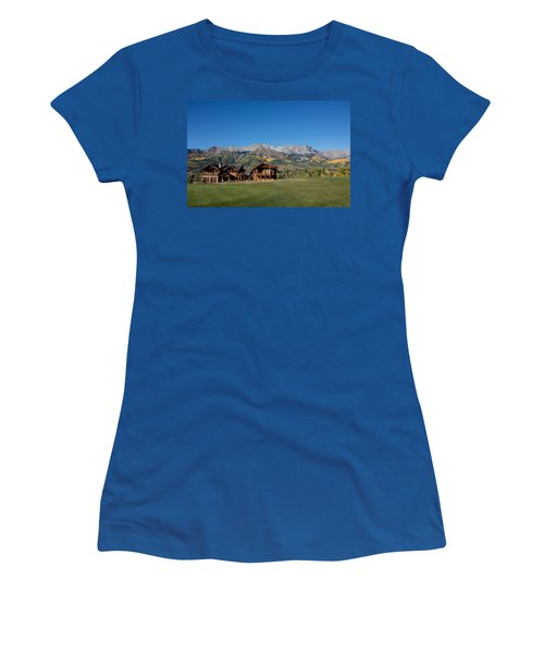 Residences In Mountain Village -- A Planned Community Adjacent To Telluride Women's T-Shirt (Athletic Fit)