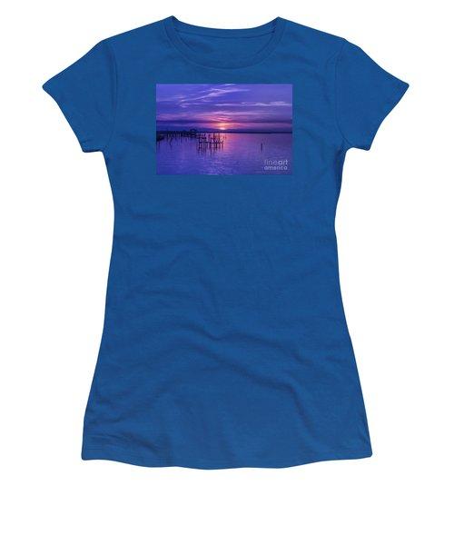 Rest Well World Purple Sunset Women's T-Shirt