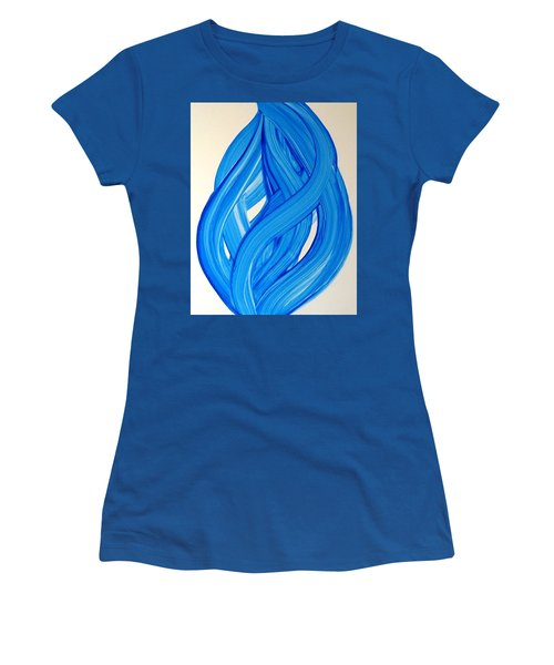 Ribbons Of Love-blue Women's T-Shirt (Athletic Fit)