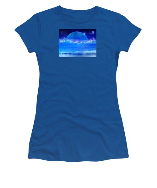 Women's T-Shirt (Junior Cut) featuring the digital art Rise by Bernd Hau