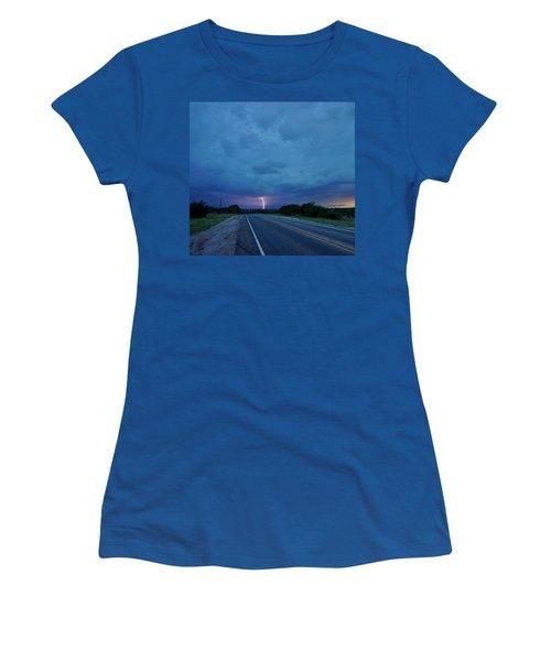 Lightning Over Sonora Women's T-Shirt (Junior Cut) by Ed Sweeney