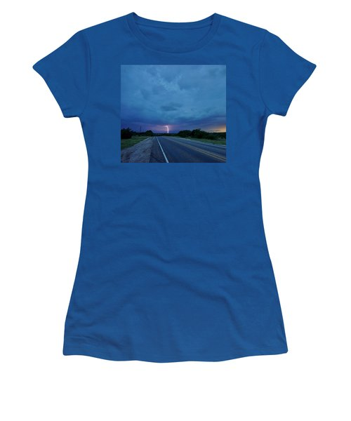 Lightning Over Sonora Women's T-Shirt (Athletic Fit)