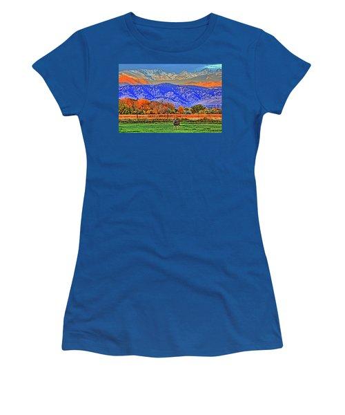 Women's T-Shirt (Junior Cut) featuring the photograph Rocky Mountain Deer by Scott Mahon