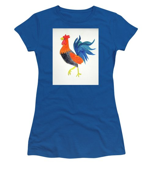 Rooster Awakens Us Women's T-Shirt (Athletic Fit)